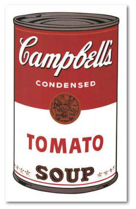 Campbells soup 1 , print by Andy warhol0202