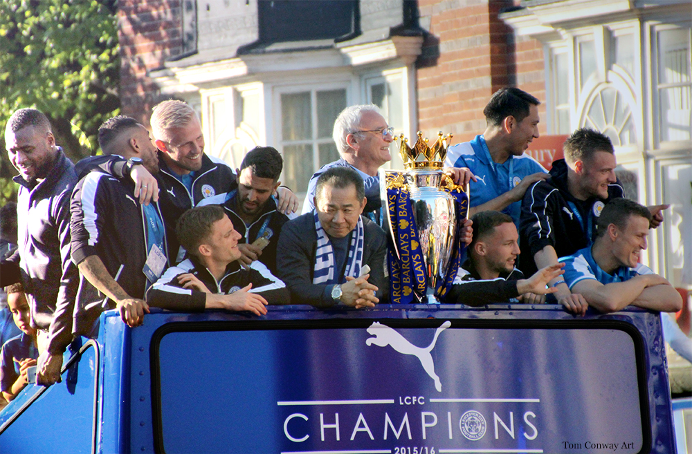 lCFC Leicester City Football Club Victory parade premier  league Champions 2015/2016