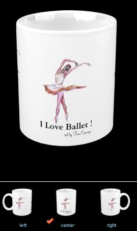 I love ballet fine art on ceramic  mug