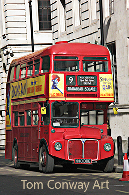 Vintage red London Bus