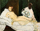 Manet,Edouard, painting of Olympia,