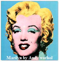 art prints by Andy warhol popart marilyn  Monroe  blue