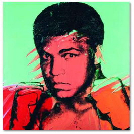 andy warhol print of boxer Mohammed ali - The greatest