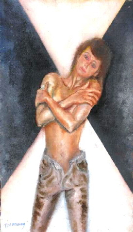 picture of semi nude female figure