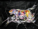 fantasy image, surreal painting of a cat by Tom Conway