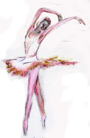 The ballerina, extract from a painting  by Tom Conway