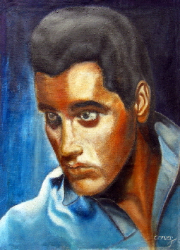 Elvis Presley , an original portrait painting of Elvis by Tom Conway. Art prints and posters available on fine art paper, and canvas.