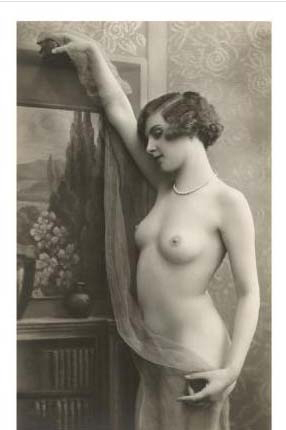 exotic vintage nude poster