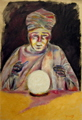 portrait painting of a fortune teller