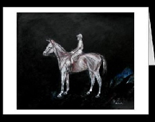 horse and jockey greetings card