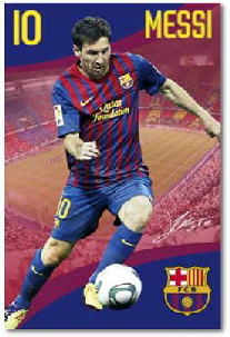 messi barcelona poster