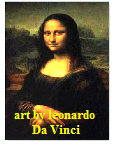 mona lisa and art by Leonardo Da Vinci