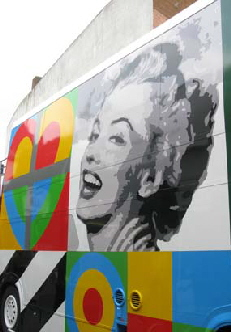 peter blake art bus marilyn monroe