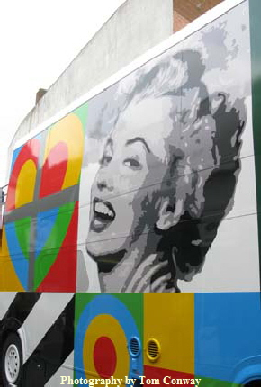 marilyn monroe image on Art Bus