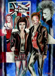 Tom Conway punk art painting Vision4art