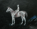 Horse art, canvas print, paintingof a racehorse