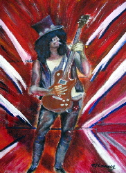 slash guns n roses poster or canvas print  by T J Conway