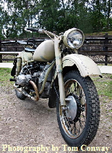 vintage military motorcycle photograph