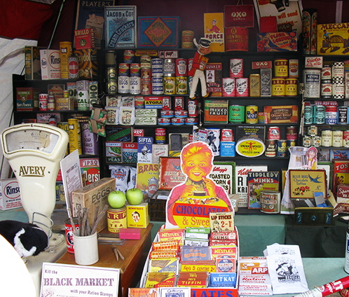 vintage sweet shop display