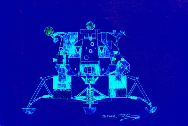 eagle apollo lunar module in blue s02