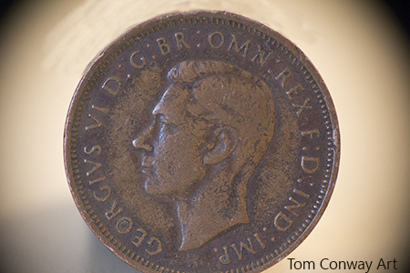 halfpenny 1943 British copper coin
