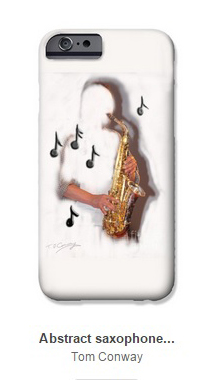 Buy Phone cases with saxophone player and other unusual designs