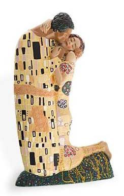 klimt the kiss art sculpture03