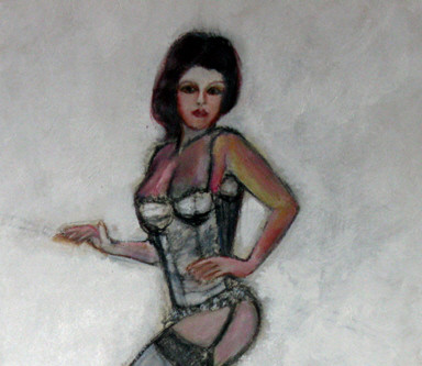 lingerie model pinup girl art