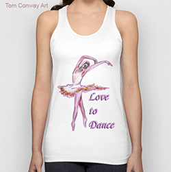 love to dance tank top design Tom Conway 1a02