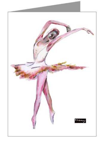 pink ballerina greeting cards02