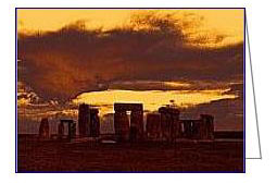 stonehenge 6 amber greeting card02