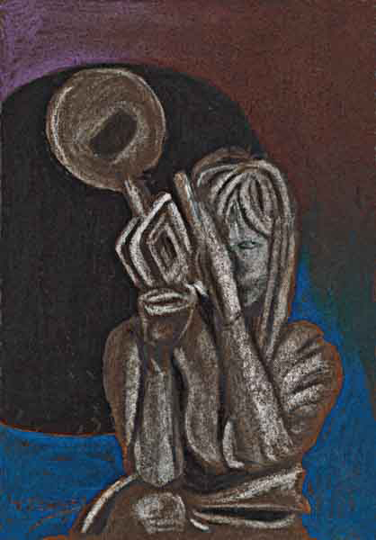 woman with trumpet s0402